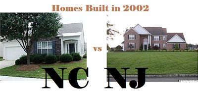 Homes in NC vs. NJ