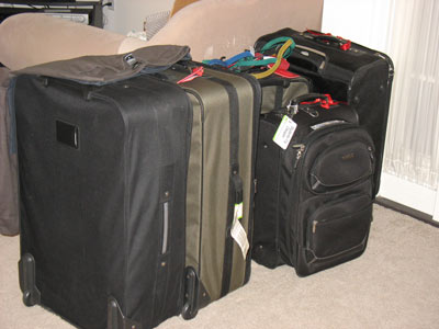 Suitcases for packing clothes