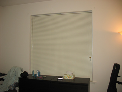 Our curtain-less window