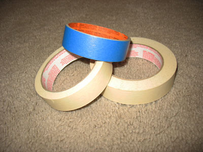 Painter's tape for labeling