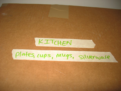 Labeling with painter's tape