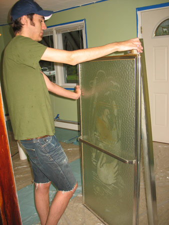 Old shower doors