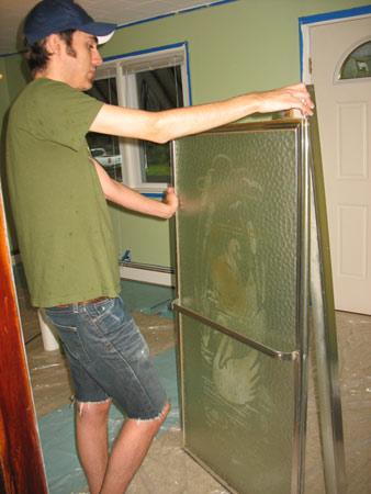Old shower doors