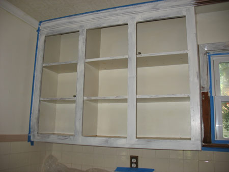 1-2-3 primed cabinets