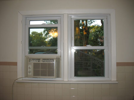 painted window moulding