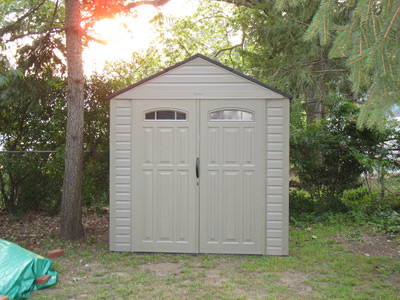 completed Rubbermaid resin shed