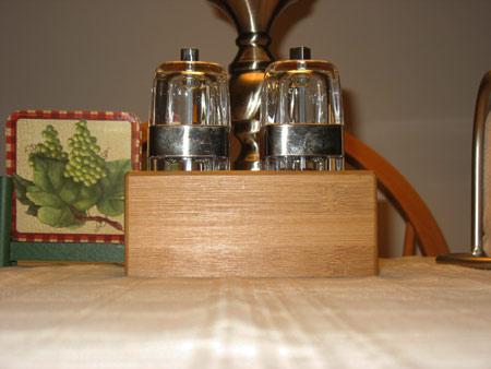 Salt and pepper mill caddy
