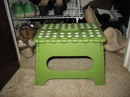 Closet step stool