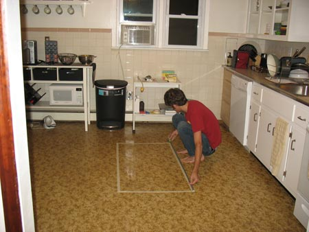Measuring for a kitchen island