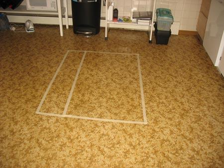 Kitchen island floor plan