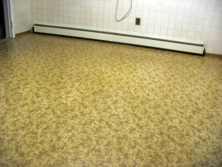 Old linoleum floor