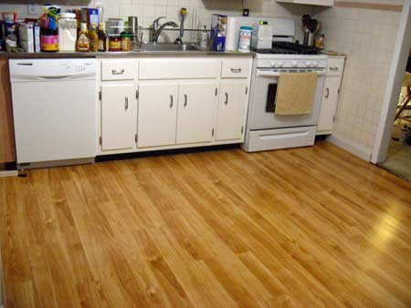Kitchen floor makeover project