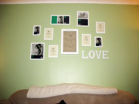 Finished photo wall
