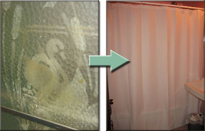 Shower doors and shower curtain