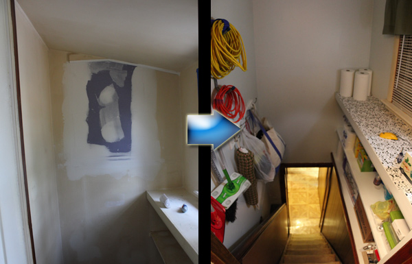 Stairway Before and After Renovation