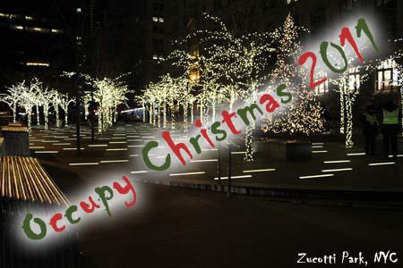 Occupy Christmas Zucotti Park