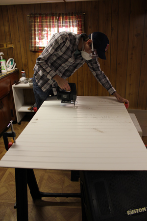 Cutting Beadboard with a Jigsaw