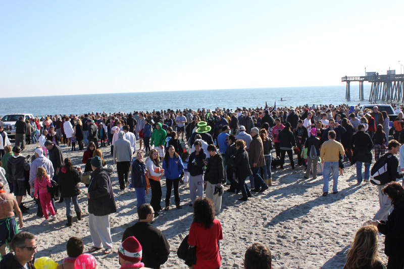 Polar bear plunge Margate NJ 2012