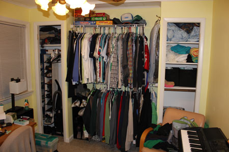 Office closets without doors