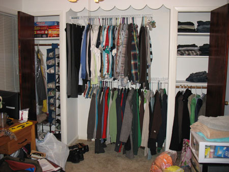 Closet with Closet Maid Shelves
