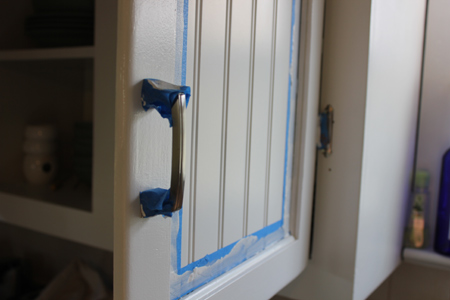 Painting Around Cabinet Hardware