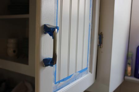 Painting Around Cabinet Hardware