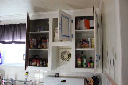 Painting Hung Cabinet Doors