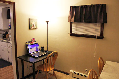 Mini office in the dining room