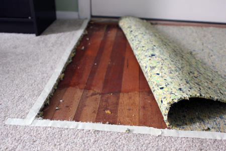 Carpet Peel Back Hardwood
