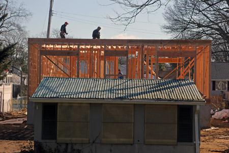 First Floor Wooden Frame House