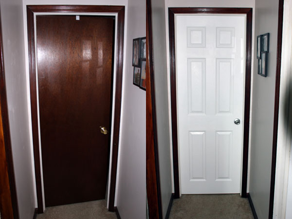 Bedroom Door Before and After