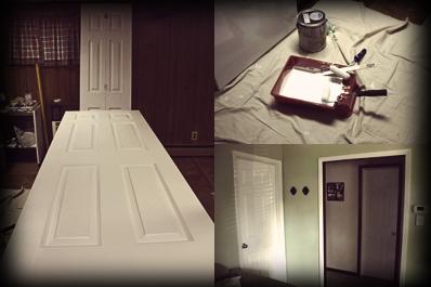Door Painting Process Collage