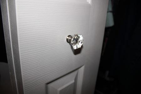 Glass Door Knob on Bi Fold