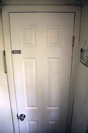 New Basement Door with Latch