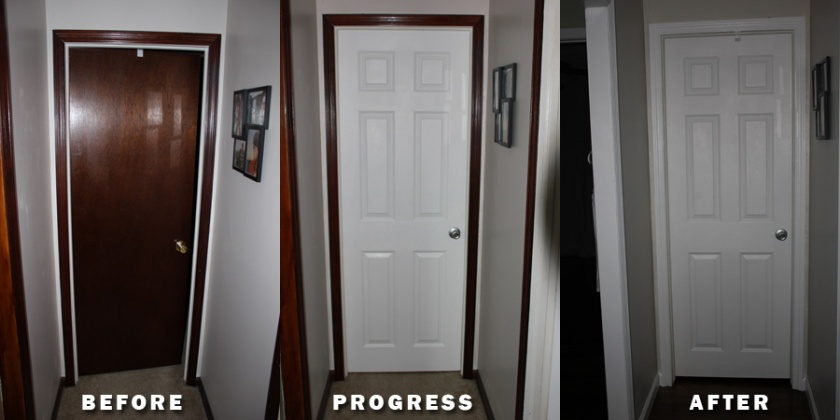 DIY home remodeling, painting trim