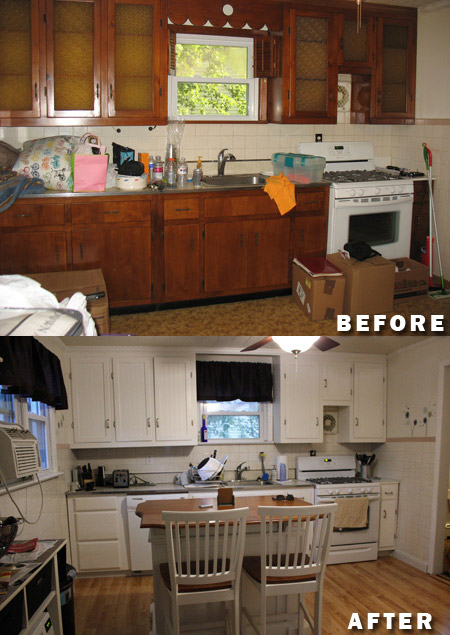 DIY kitchen renovation, painting kitchen cabinets