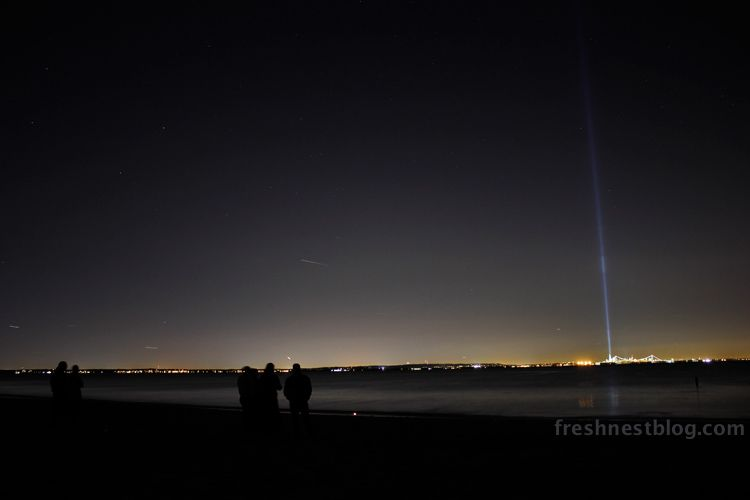 September 11th 2012 Tribute in Light Ideal Beach, NJ