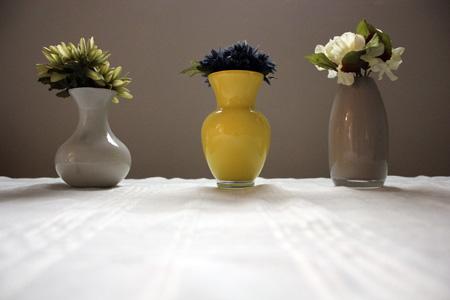 Acryilic Painted Vases