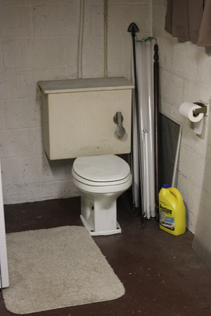Basement toilet