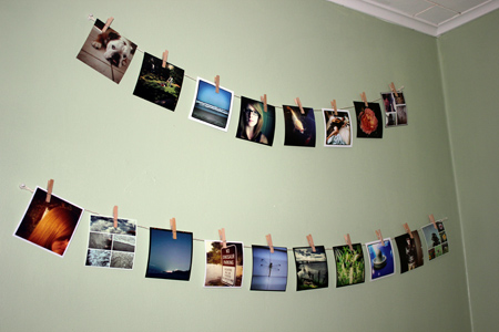 DIY picture clothesline
